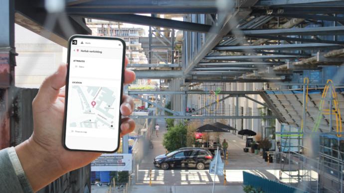 Strijp-S application on smartphone