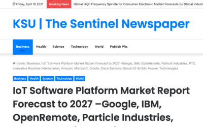 OpenRemote listed #3 in IoT Platform Market Report